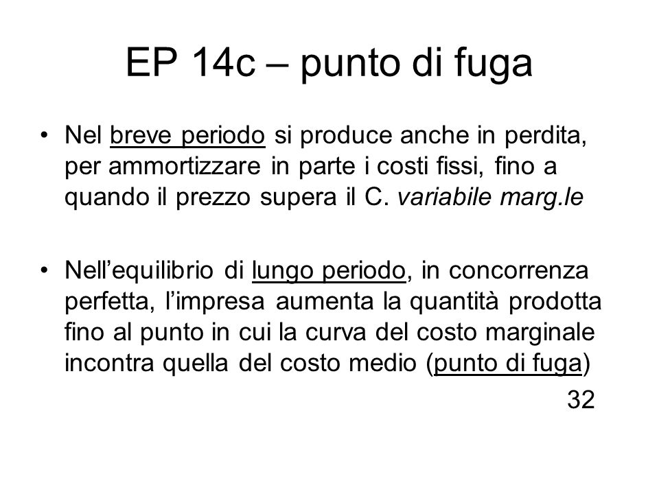 EP 14c – punto di fuga