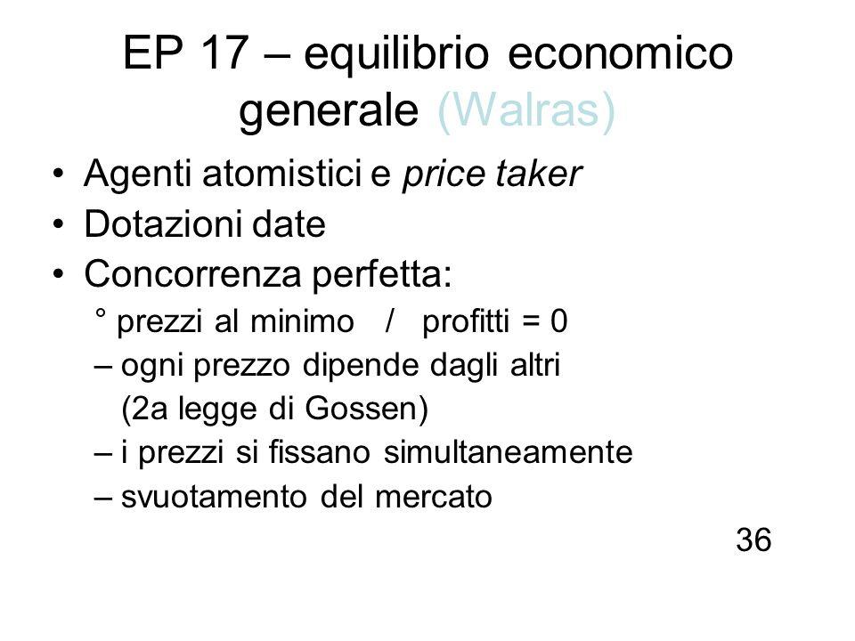 EP 17 – equilibrio economico generale (Walras)