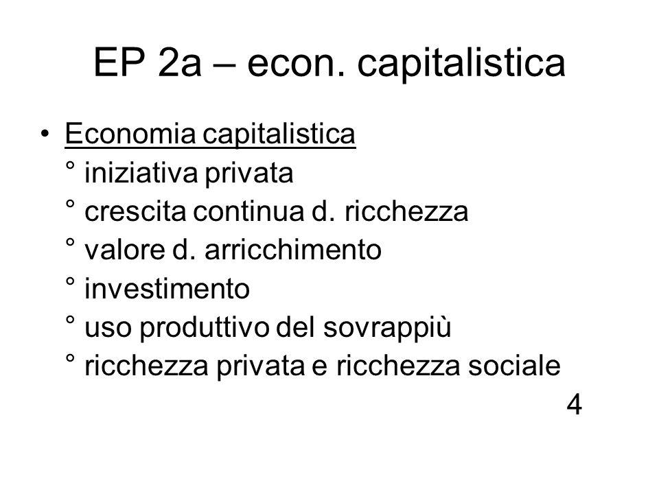 EP 2a – econ. capitalistica