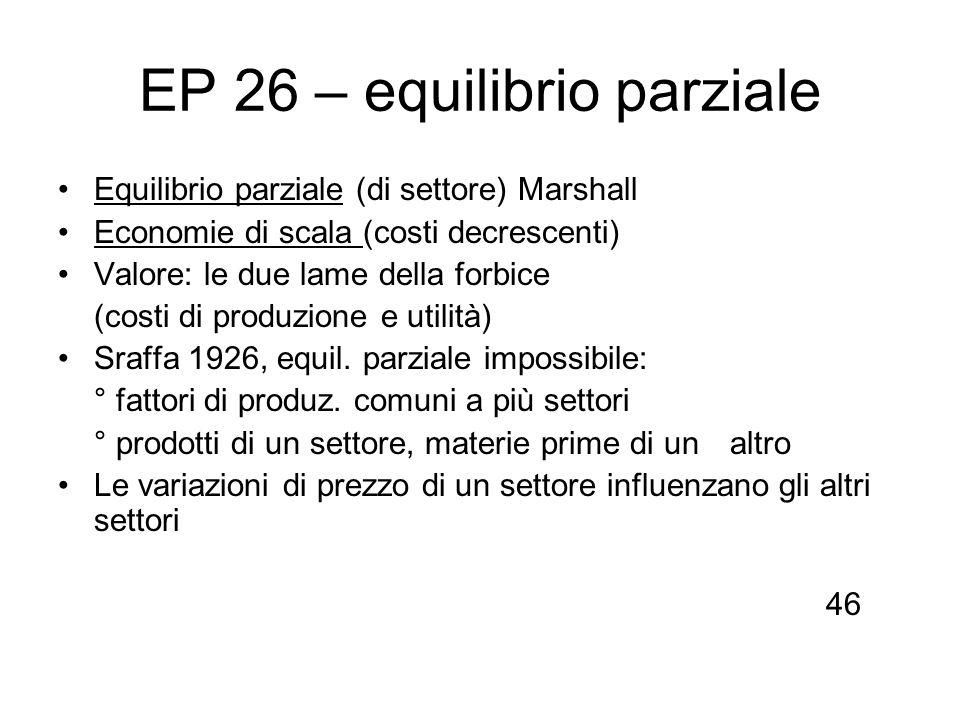 EP 26 – equilibrio parziale