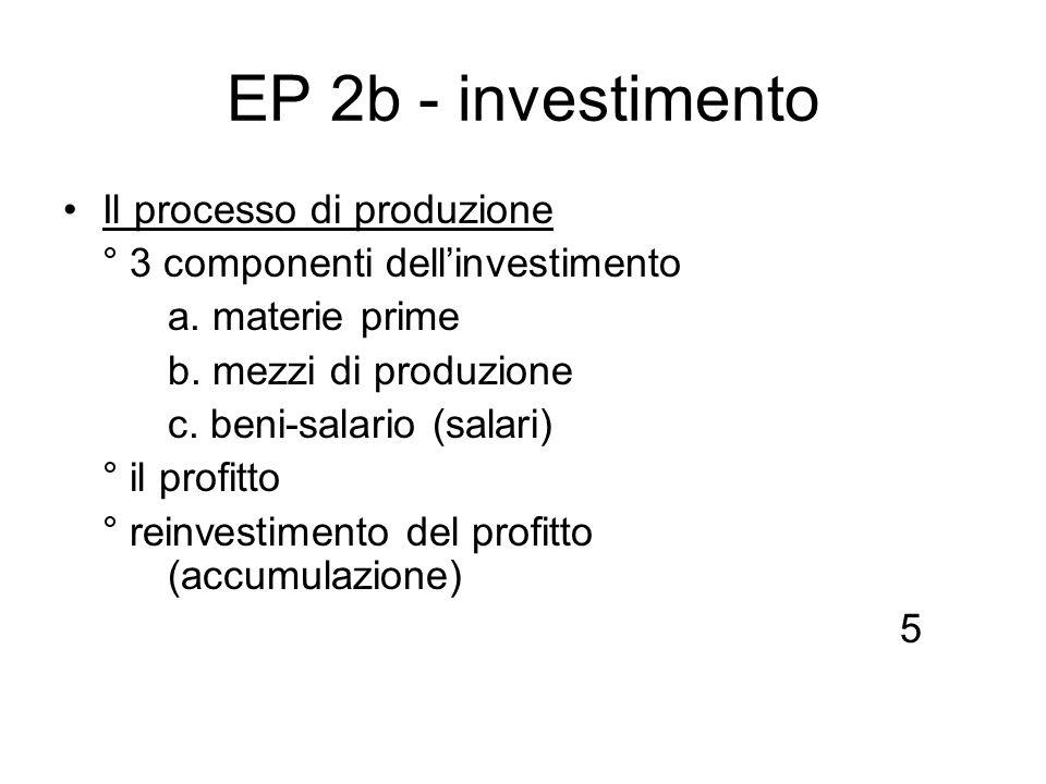 EP 2b - investimento Il processo di produzione