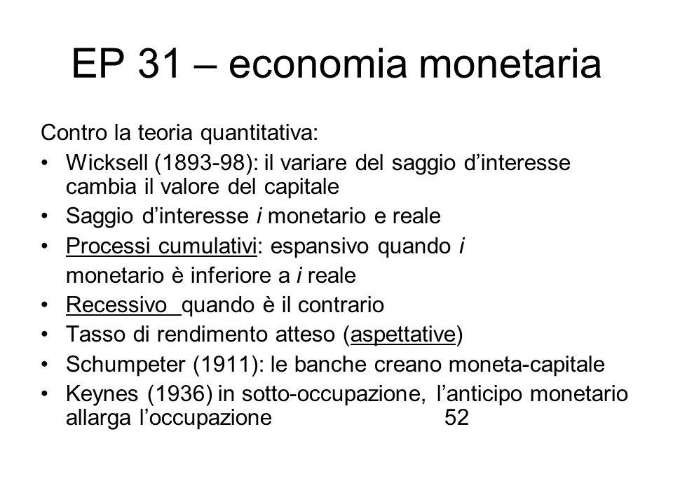 EP 31 – economia monetaria