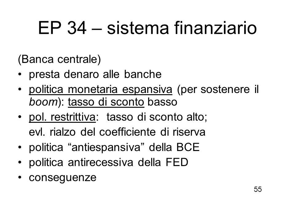 EP 34 – sistema finanziario