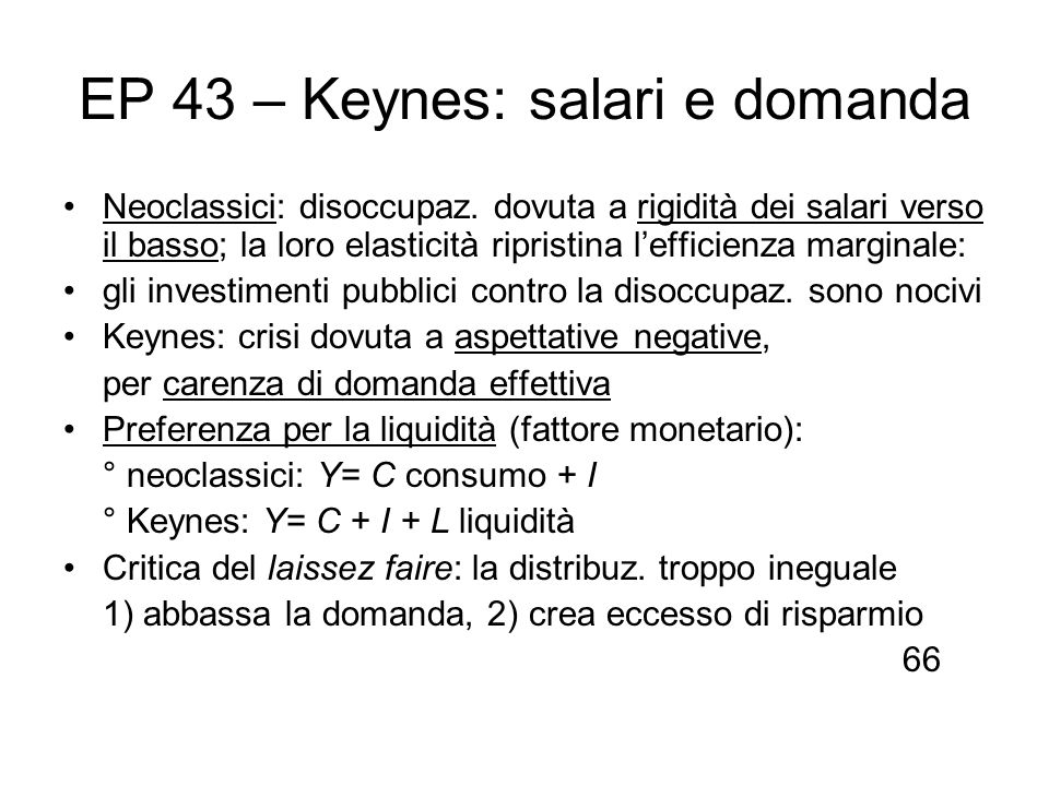 EP 43 – Keynes: salari e domanda