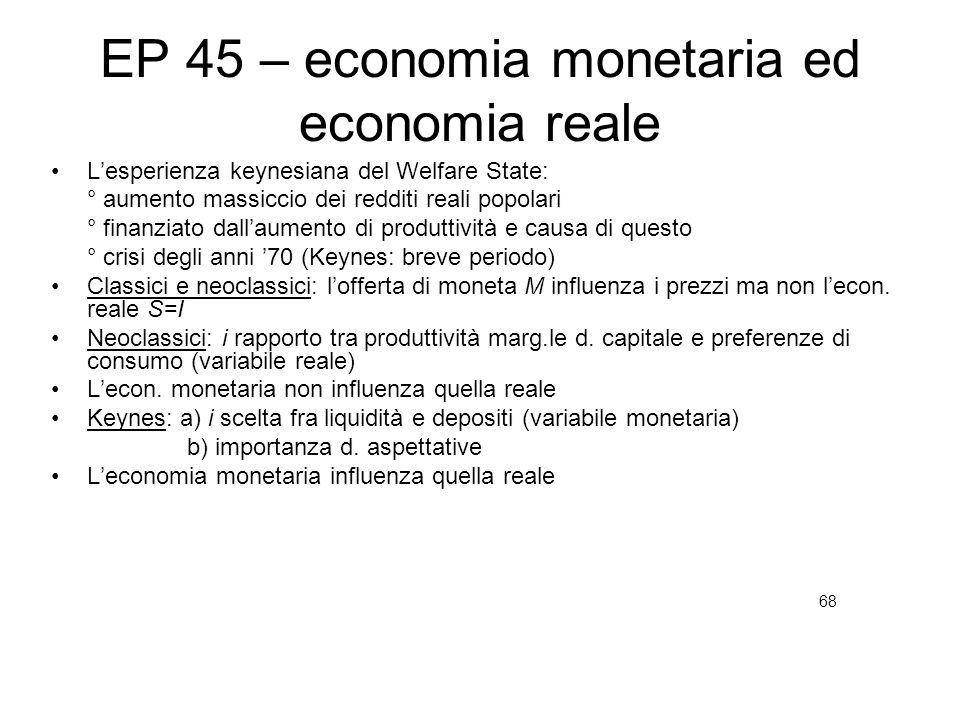 EP 45 – economia monetaria ed economia reale