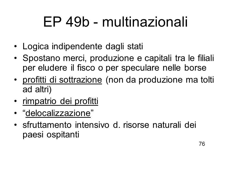 EP 49b - multinazionali Logica indipendente dagli stati