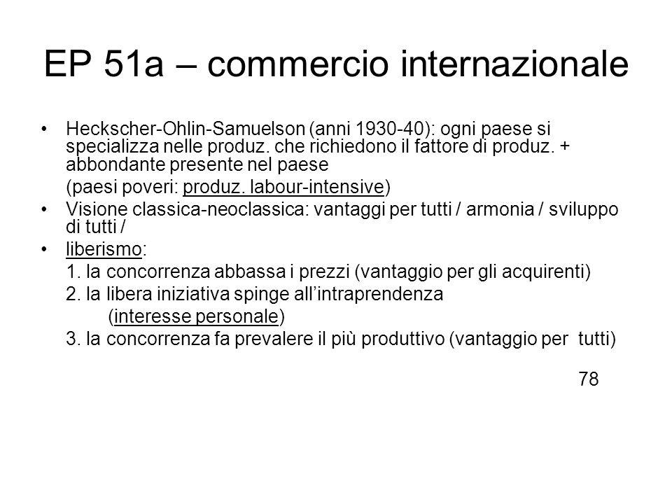 EP 51a – commercio internazionale