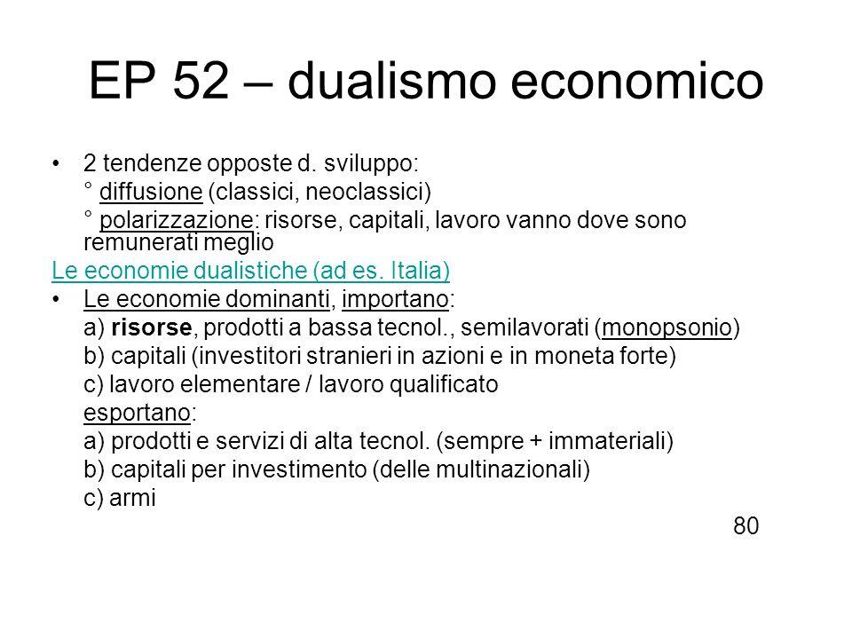 EP 52 – dualismo economico