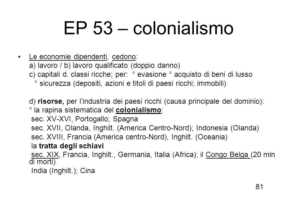 EP 53 – colonialismo Le economie dipendenti, cedono: