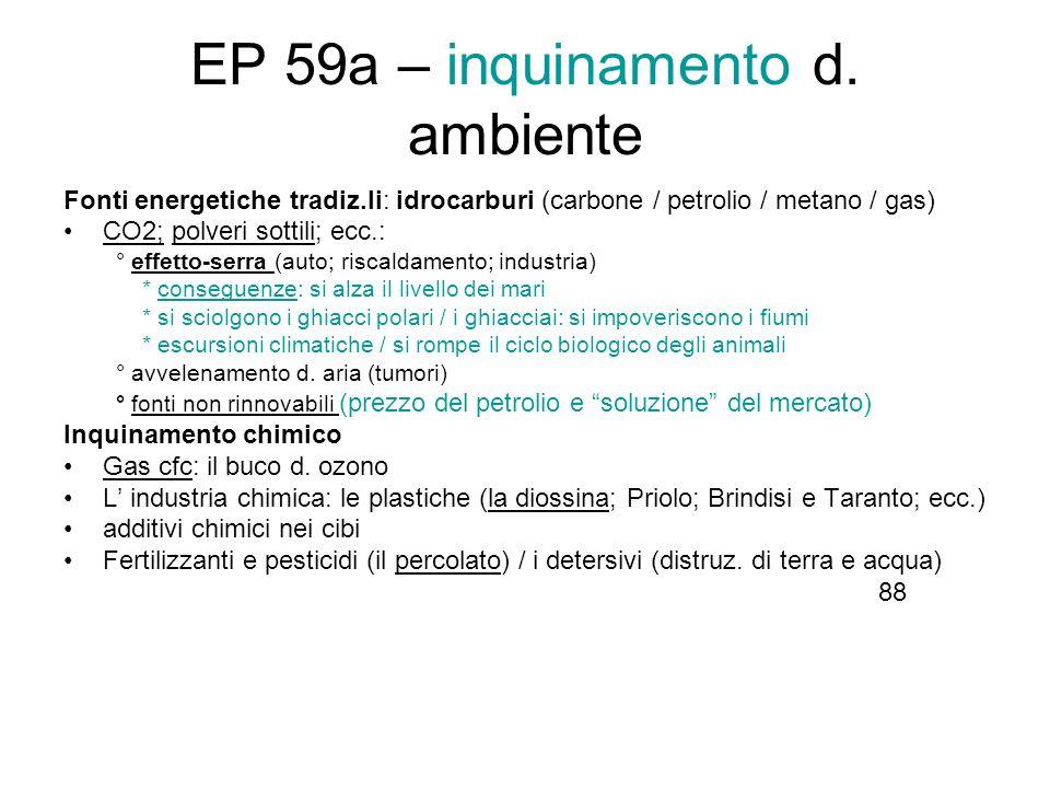 EP 59a – inquinamento d. ambiente