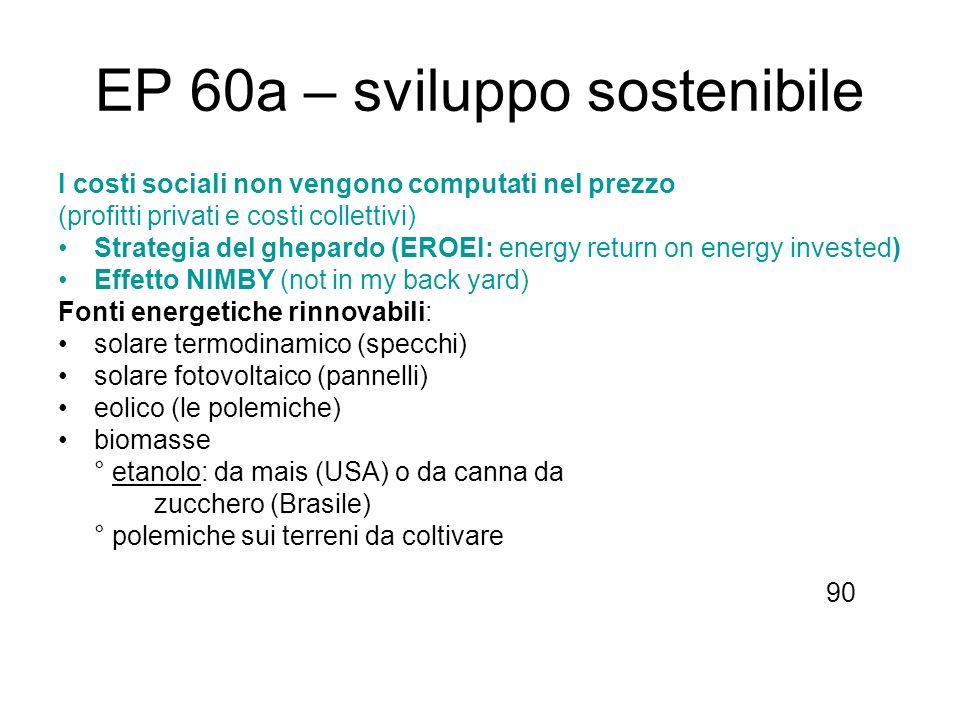 EP 60a – sviluppo sostenibile