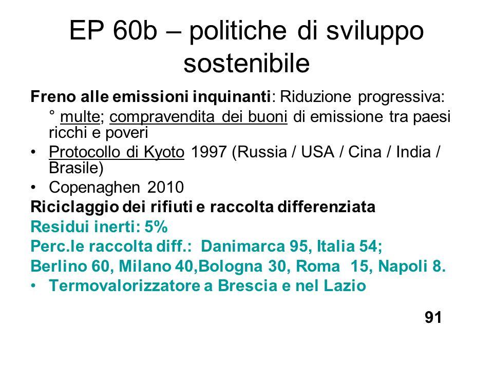 EP 60b – politiche di sviluppo sostenibile