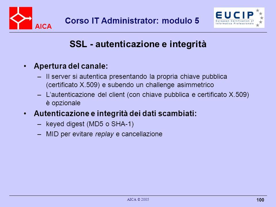 SSL - autenticazione e integrità