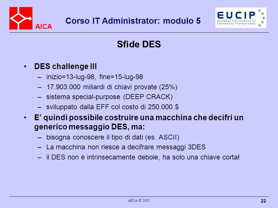 Sfide DES DES challenge III