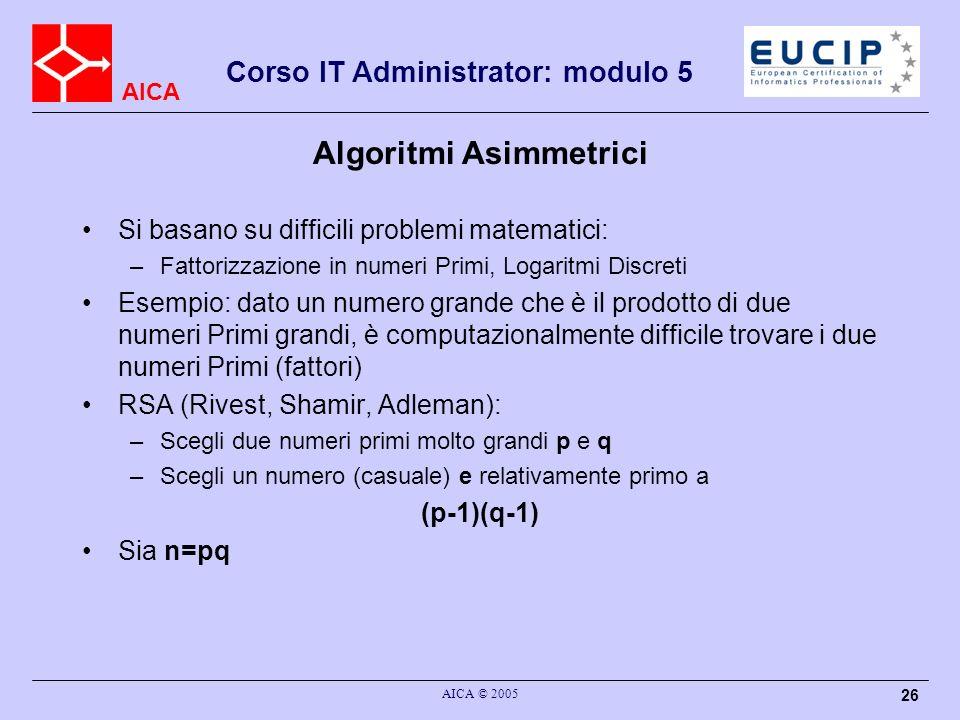 Algoritmi Asimmetrici
