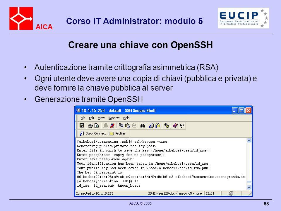Creare una chiave con OpenSSH