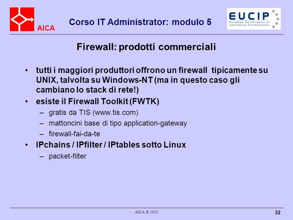 Firewall: prodotti commerciali