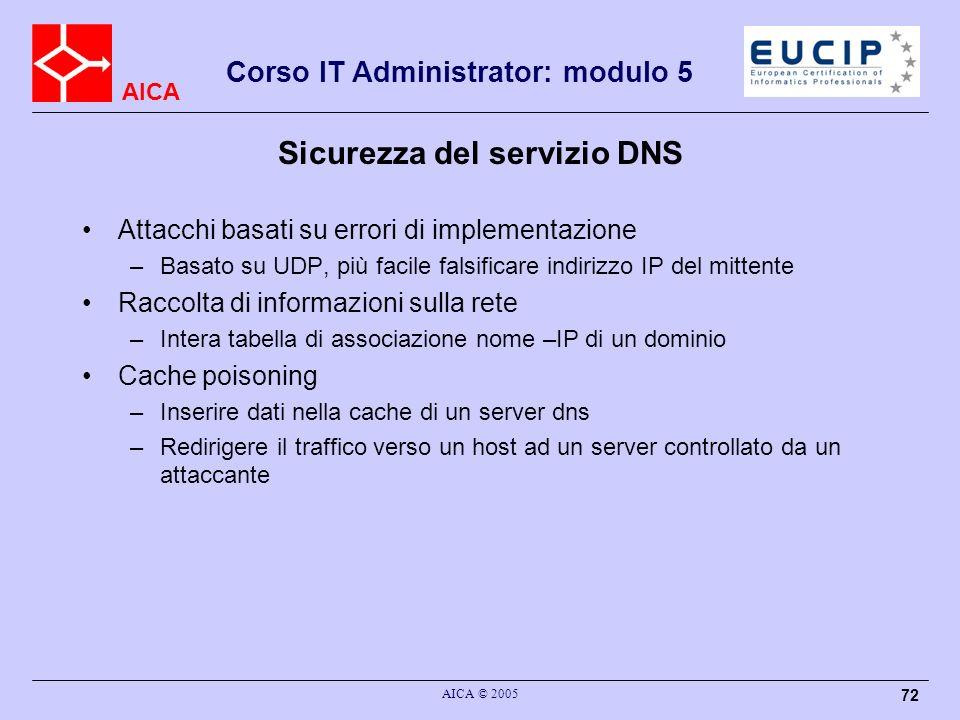 Sicurezza del servizio DNS