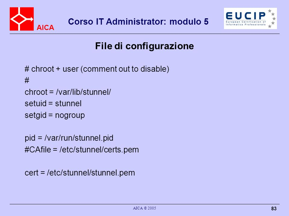 File di configurazione