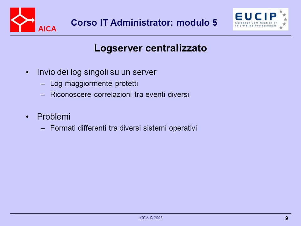Logserver centralizzato