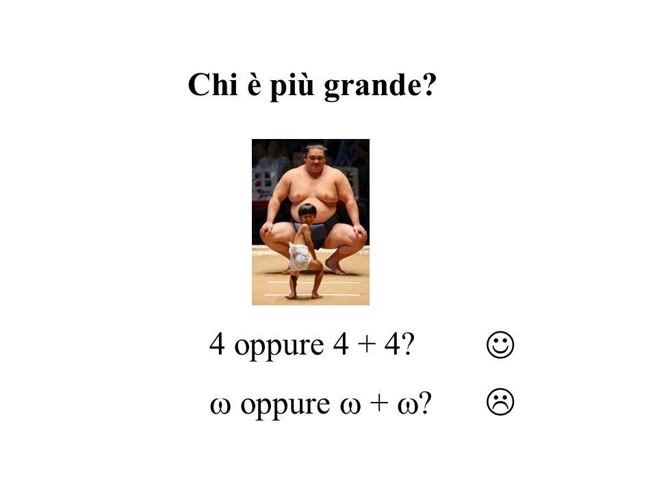 Chi è più grande 4 oppure 4 + 4   oppure  +  
