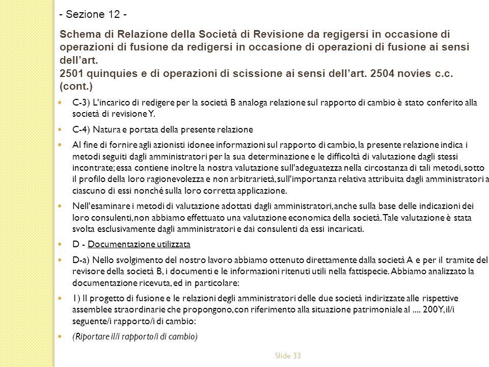 - Sezione 12 -