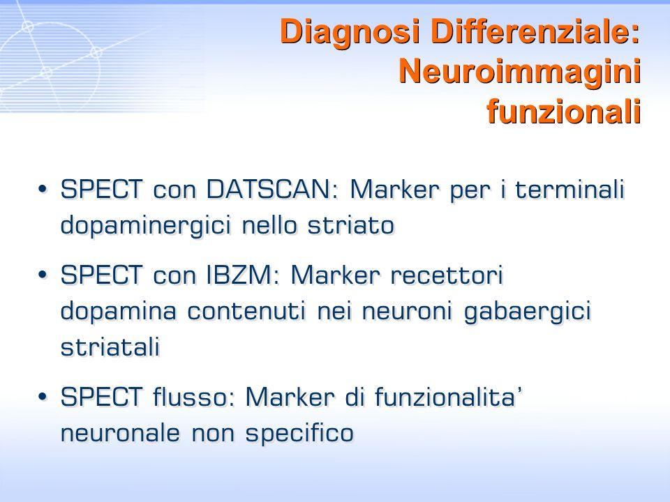 Diagnosi Differenziale: Neuroimmagini funzionali