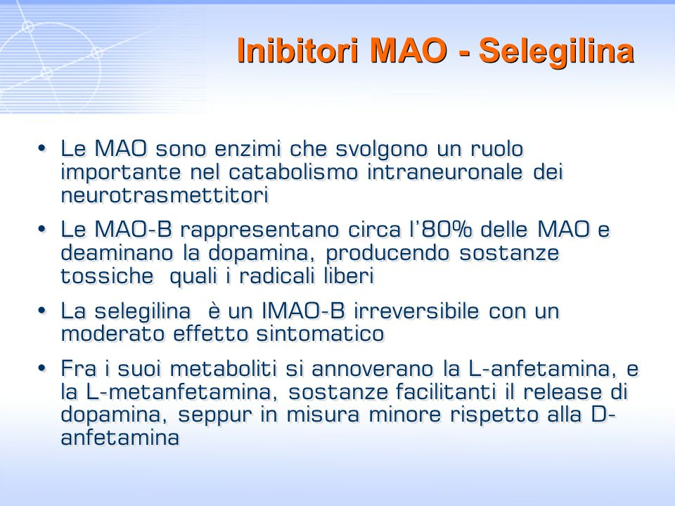 Inibitori MAO - Selegilina