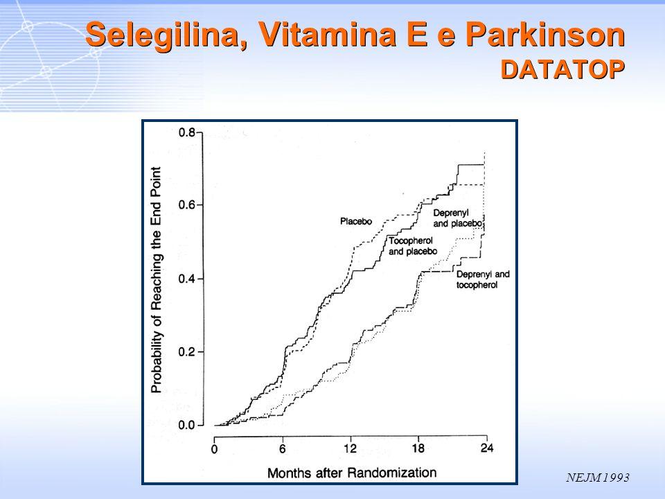 Selegilina, Vitamina E e Parkinson DATATOP
