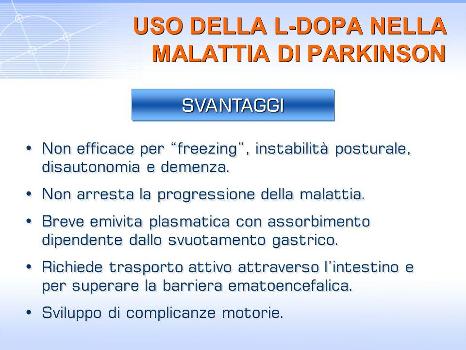 USO DELLA L-DOPA NELLA MALATTIA DI PARKINSON