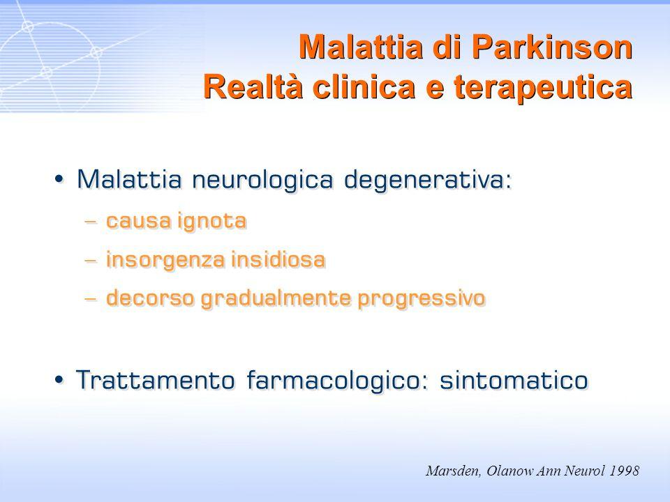 Malattia di Parkinson Realtà clinica e terapeutica