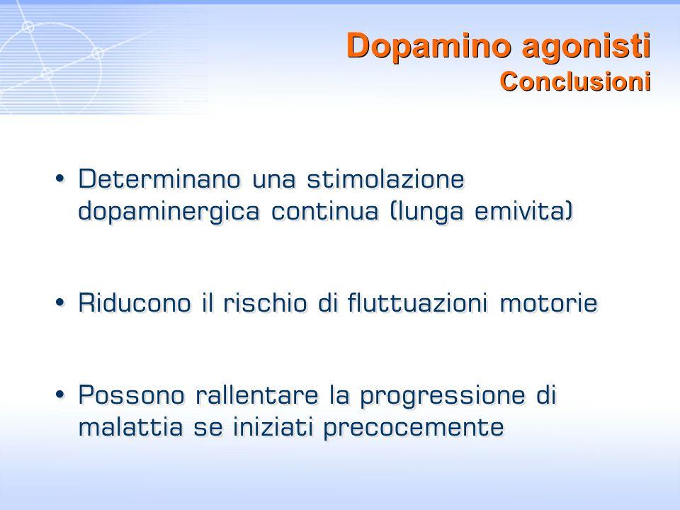 Dopamino agonisti Conclusioni