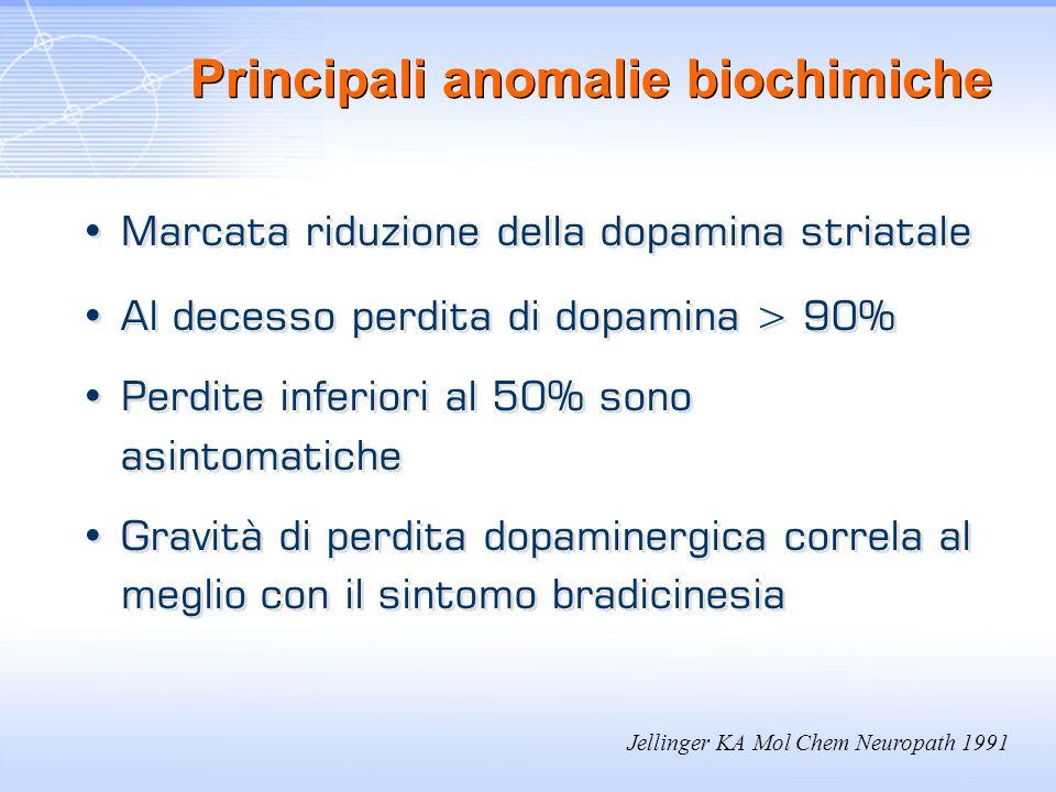 Principali anomalie biochimiche