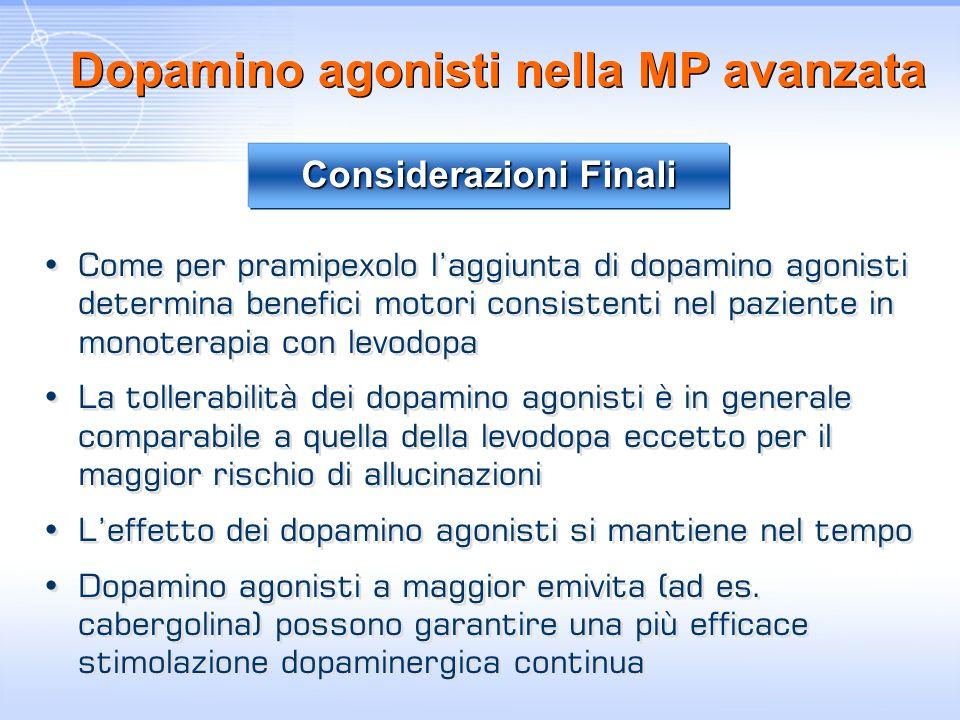 Dopamino agonisti nella MP avanzata
