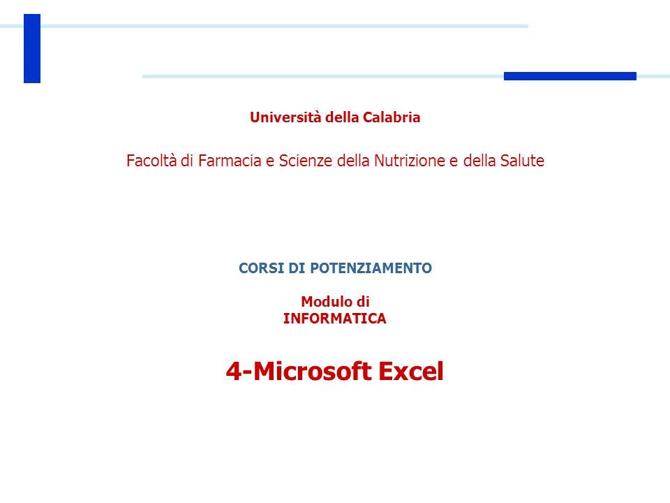 Introduzione Cos'è Excel