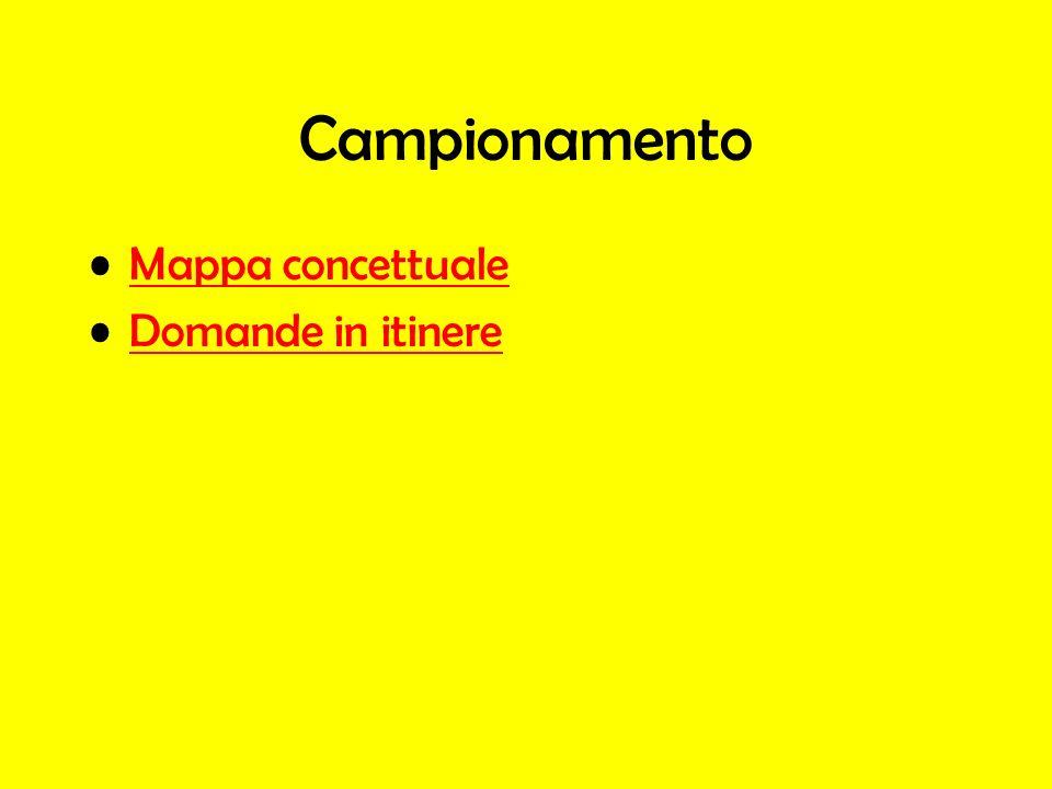 Campionamento Mappa concettuale Domande in itinere