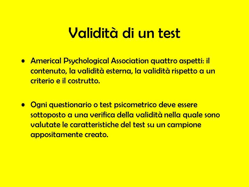 Validità di un test
