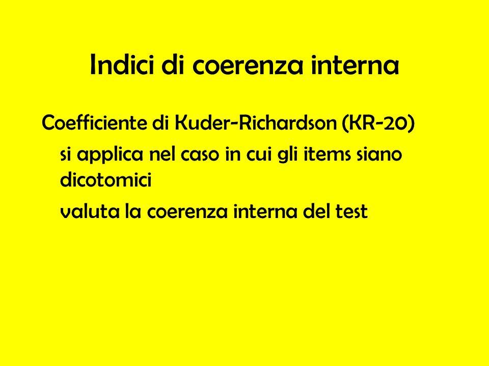 Indici di coerenza interna
