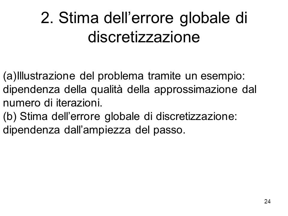 2. Stima dell'errore globale di discretizzazione