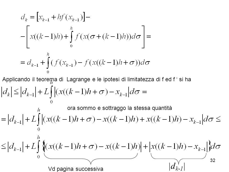 Applicando il teorema di Lagrange e le ipotesi di limitatezza di f ed f ' si ha