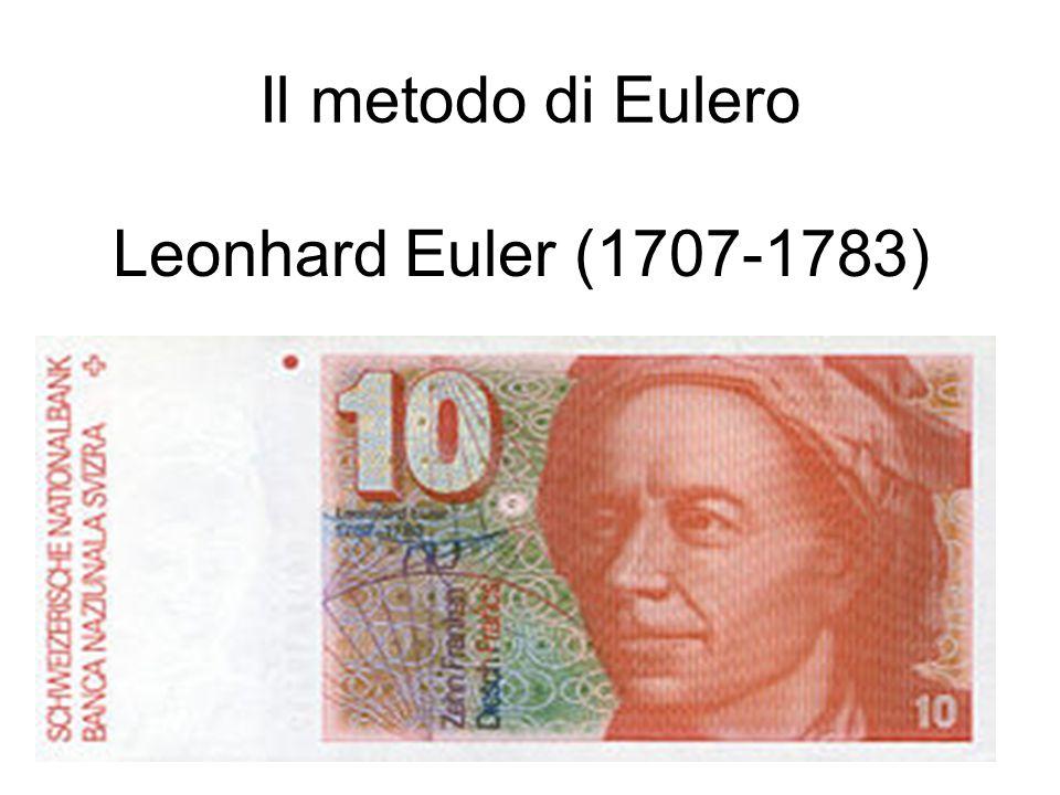 Il metodo di Eulero Leonhard Euler (1707-1783)