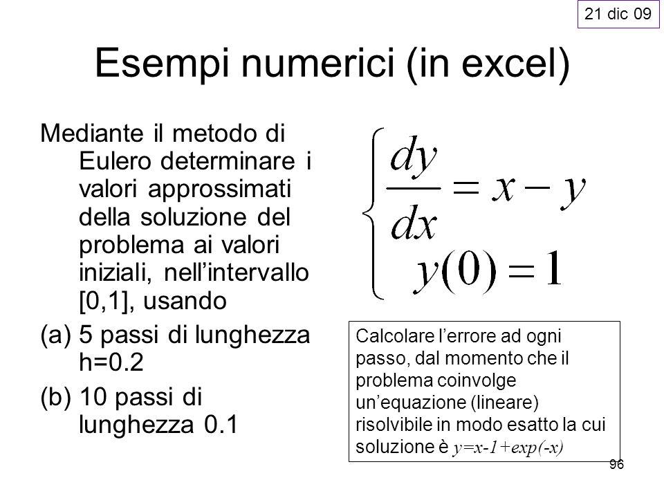 Esempi numerici (in excel)