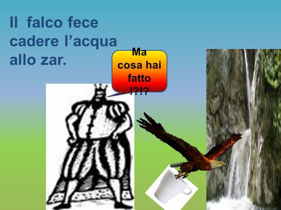 Il falco fece cadere l'acqua allo zar.
