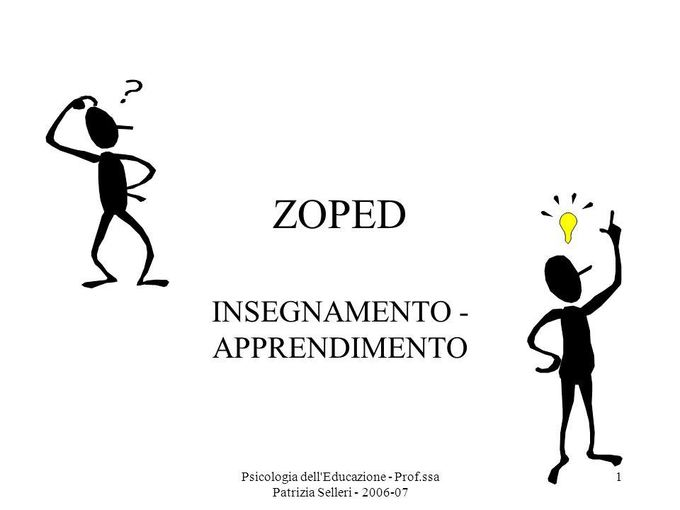 INSEGNAMENTO - APPRENDIMENTO