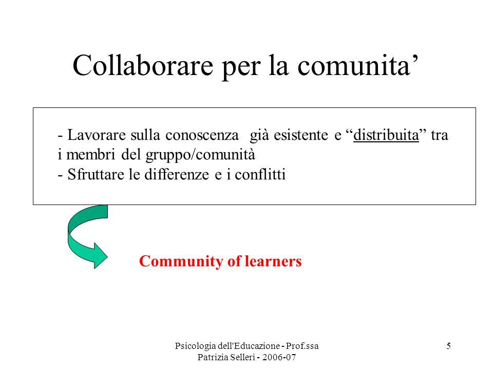 Collaborare per la comunita'
