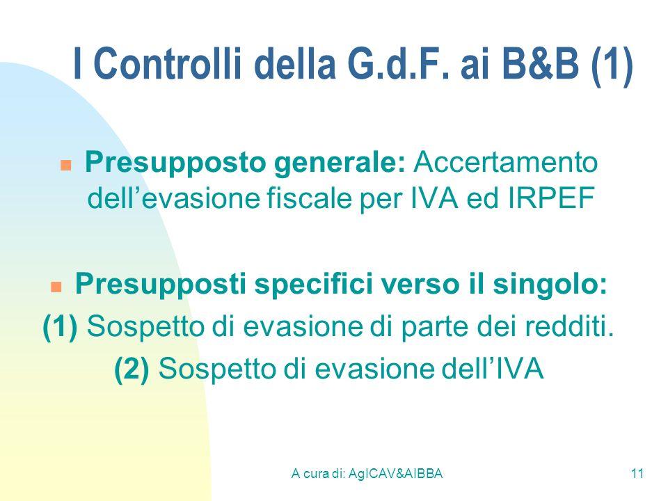 I Controlli della G.d.F. ai B&B (1)