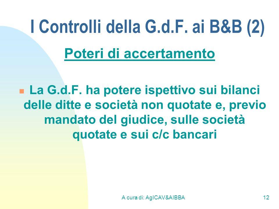 I Controlli della G.d.F. ai B&B (2)