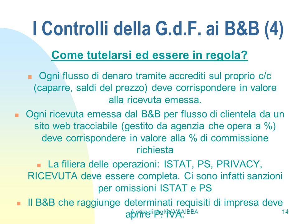 I Controlli della G.d.F. ai B&B (4)