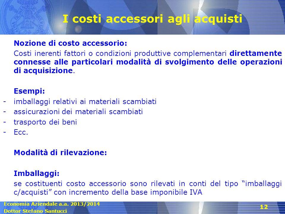 I costi accessori agli acquisti