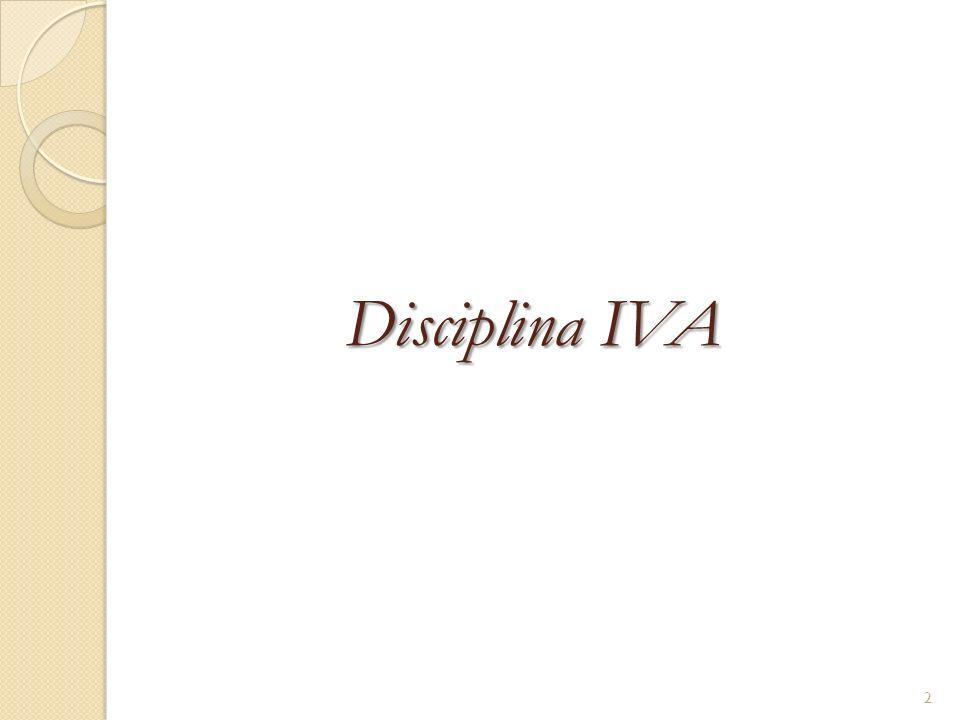 Disciplina IVA